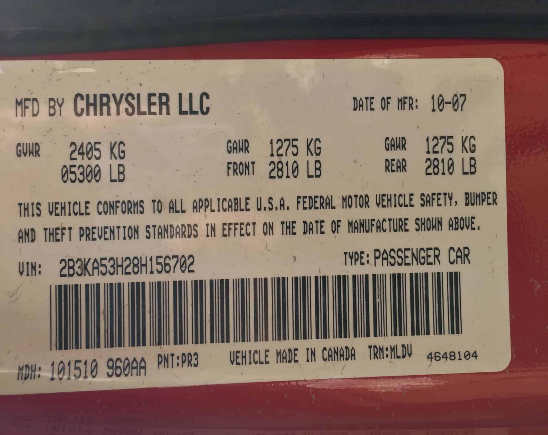 US Federal Certification Label